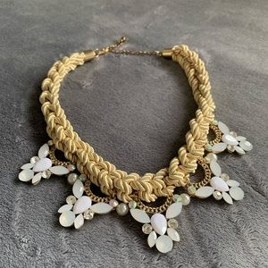 Jewelry - COPY - Roped Statement Beaded Choker Necklace